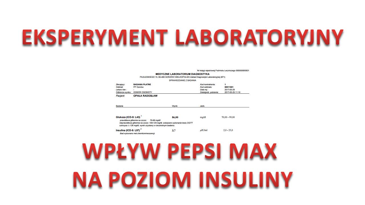 Czy pepsi max przeszkadza w odchudzaniu ? Test laboratoryjny.